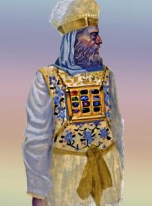 Aaron in priestly garments