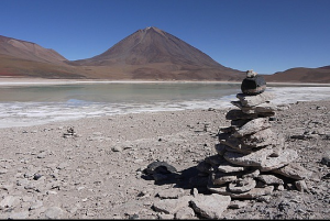 Pile of stones in the Bolivian Desert