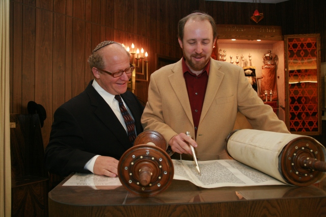 Shais St.Martin and Rabbi Mark Melamut.