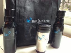 BE tote bag, coffe mu, water bottle