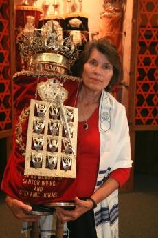 Bonnie Lindauer during her bat mitzvah preparations.