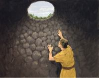 Joseph in the pit.