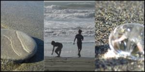 Beach scene at San Francisco.