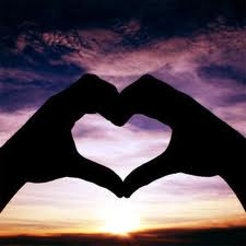 Form a heart shape in the evening sky. Listen to your intuition.