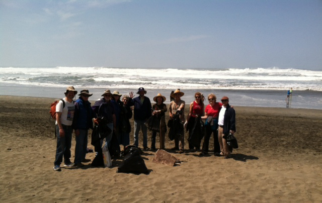 Beach Cleanup for Earth Day with congregants from three  congregations.