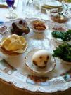 Photo of passover table with ritual foods