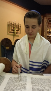 Congregant Sebastian Middle at his bar mitzvah